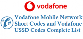 Vodafone Mobile Network Short Codes and Vodafone USSD Codes