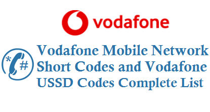 Vodafone ussd codes short code for postpaid prepaid customers