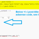How to Add Adsense Ads Below Post Title