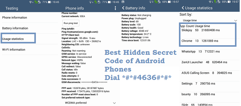 Best Secret Code of Android OS Dial *#*#4636#*#* - TechAccent