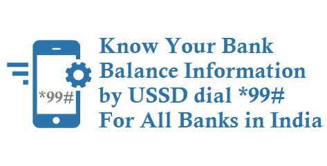 bank balance by ussd code *99#
