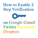 How to Enable 2 Step Verification on Google Gmail Twitter