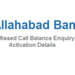 Allahabad Bank Missed Call Balance Enquiry and Activation
