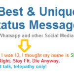 101 Best Unique Whatsapp Status Messages