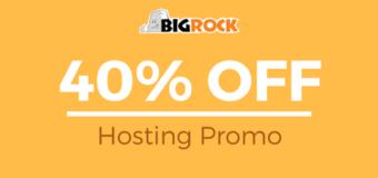 Bigrock Hosting Sale – Flat 40% Off Coupon