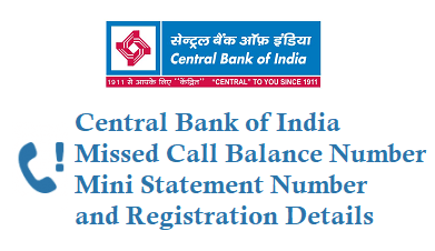 Central Bank of India Missed Balance Number