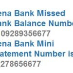 Dena Bank Missed Call Balance Number Dial 09289356677