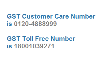 GST Customer Care Number GST Toll Free Number