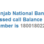 Punjab National Bank Missed Call Bank Balance Number is 18001802223