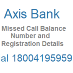 Dial 18004195959 for Axis Bank Missed Call Bank Account and Other Details