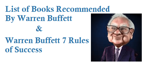 List of Books Recommended By Warren Buffett and 7 Rules of Success