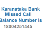 Karnataka Bank Missed Call Bank Balance Number and Activation Details