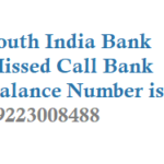 South Indian Bank Missed Call Balance Enquiry Number Registration Mini Statement Details