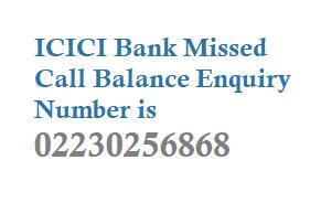 ICICI Missed Call Balance Enquiry Number Mini Statement