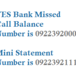 YES Bank Missed Call Balance Number Mini Statement and Registration Process Details