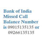 Bank of India Missed Call Balance Number Mini Statement Number and Customer Care Numbers