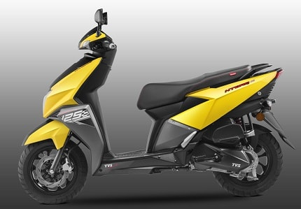 TVS Ntorq 125 CC Scooter Specifications Review Price Mileage