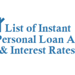 List of Instant Personal Loan Apps