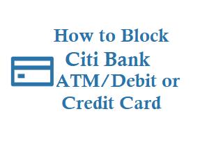 Block citi bank credit card