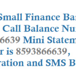 ESAF Small Finance Bank Missed Call Balance Number Registration and Other Service Details