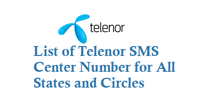 Telenor SMS Center Number