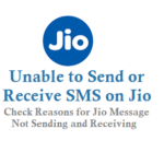 Reasons for Unable to Send or Receive SMS on Jio Mobile Network