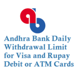 Andhra Bank Daily Withdrawal Limit from ATM Using ATM Card Debit Card