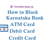 How to Block Karnataka Bank ATM Card Debit Card Credit Card