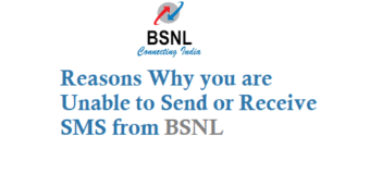 Why I am Unable to Send or Receive SMS from BSNL