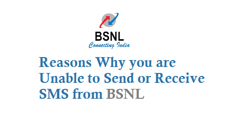 Why I am Unable to Send or Receive SMS from BSNL - TechAccent