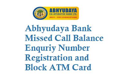 Abhyudaya Bank Missed Call Balance Enquriy Number