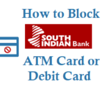 How to Block South Indian Bank ATM Card Debit Card