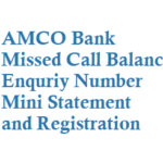 AMCO Missed Call Balance Enquriy Number Mini Statement and Registration