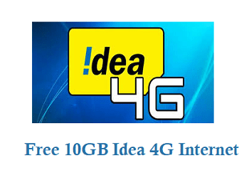 Free 10GB Idea 4G Internet