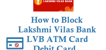 How to Block Lakshmi Vilas Bank ATM Card Debit Card