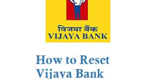 Vijaya Bank ATM Card PIN Reset
