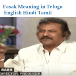 Fasak Meaning in Telugu English Hindi Tamil