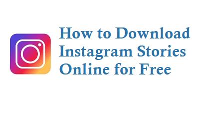 Download Instagram Stories Online for Free - Instagram story downloader