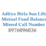 Aditya Birla Mutual Fund Balance by Miss Call and Folio Valuation Details Account Statement