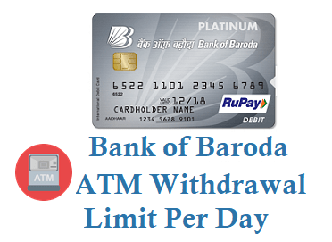 Bank of Baroda ATM Withdrawal Limit Per Day