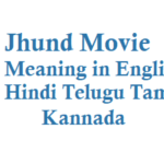 Jhund Meaning in English Hindi Telugu Tamil Kannada