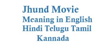 Jhund Meaning in English Hindi Telugu Tamil Kannada