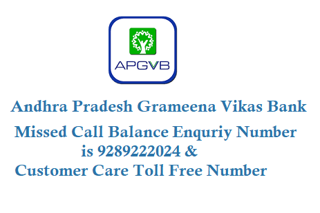 APGVB Missed Call Balance Enquiry Number 9289222024
