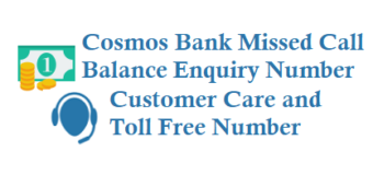 Cosmos Bank Missed Call Balance Enquiry Number Customer Care Toll Free Number