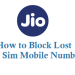 How to Block Lost Jio Sim Mobile Phone