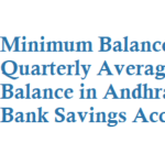 Minimum Balance in Andhra Bank Savings Account