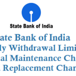 State Bank of India Daily Withdrawal Limit From ATM Annual Maintenance Charges and Card Replacement Charges