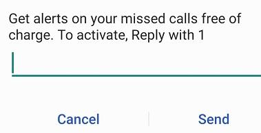Airtel Missed Call Alert Service
