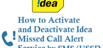 How to Activate Idea Missed Call Alert Service