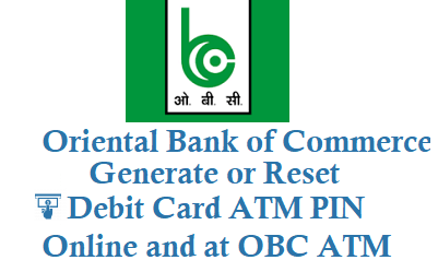 how to reset obc atm pin or generate obc debit card atm card pin online